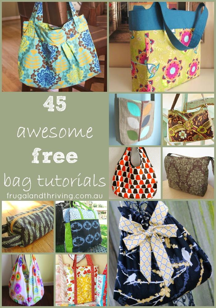 45 awesome free bag tutorials