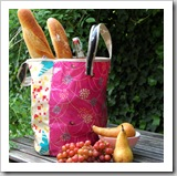Oilcloth Grocery Tote by Purl Soho | Bag Tutorial Roundup | Frugal and Thriving