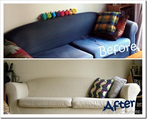 DIY lounge slipcover