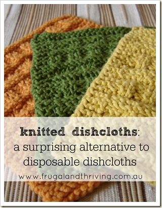 Learn to knit by making knitted dishcloths