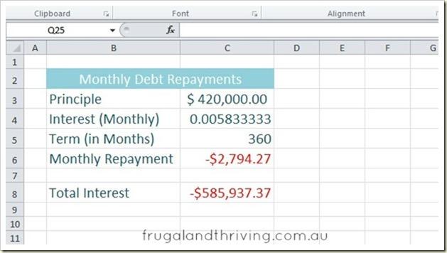 interest repayment calculator