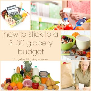 how to stick to a $130 grocery budget 2