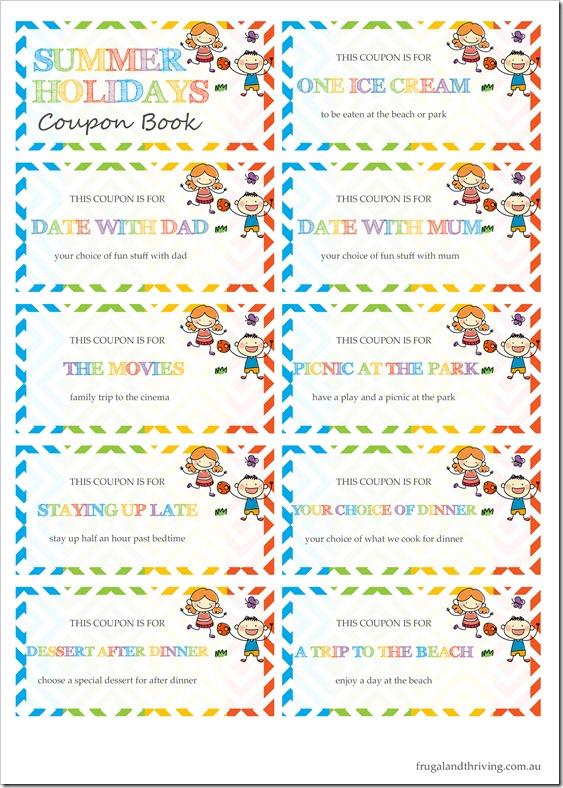 printable coupon book
