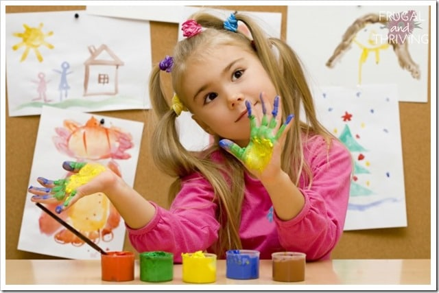 essential and frugal kids art and craft supplies