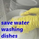 save water washing dishes