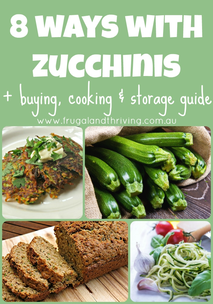 how to use zucchinis